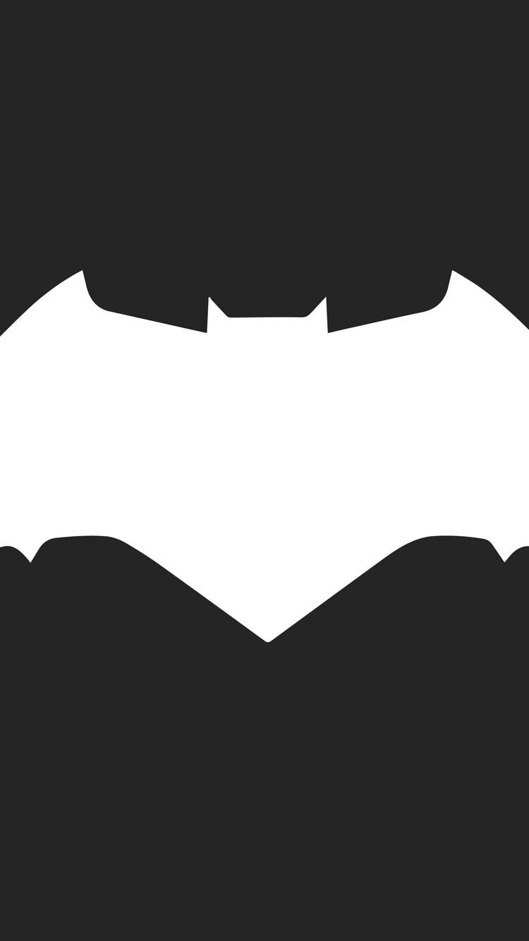 750x1334 Batman Logo Minimalism Iphone 6 Iphone 6s Iphone 7 Hd