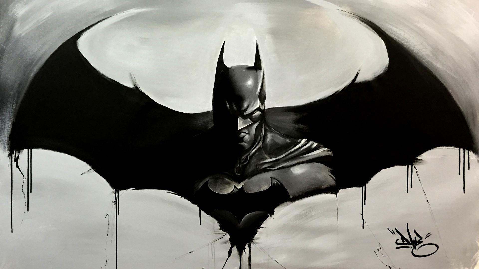 1920x1080 Batman Logo Sketch Art Laptop Full Hd 1080p Hd 4k