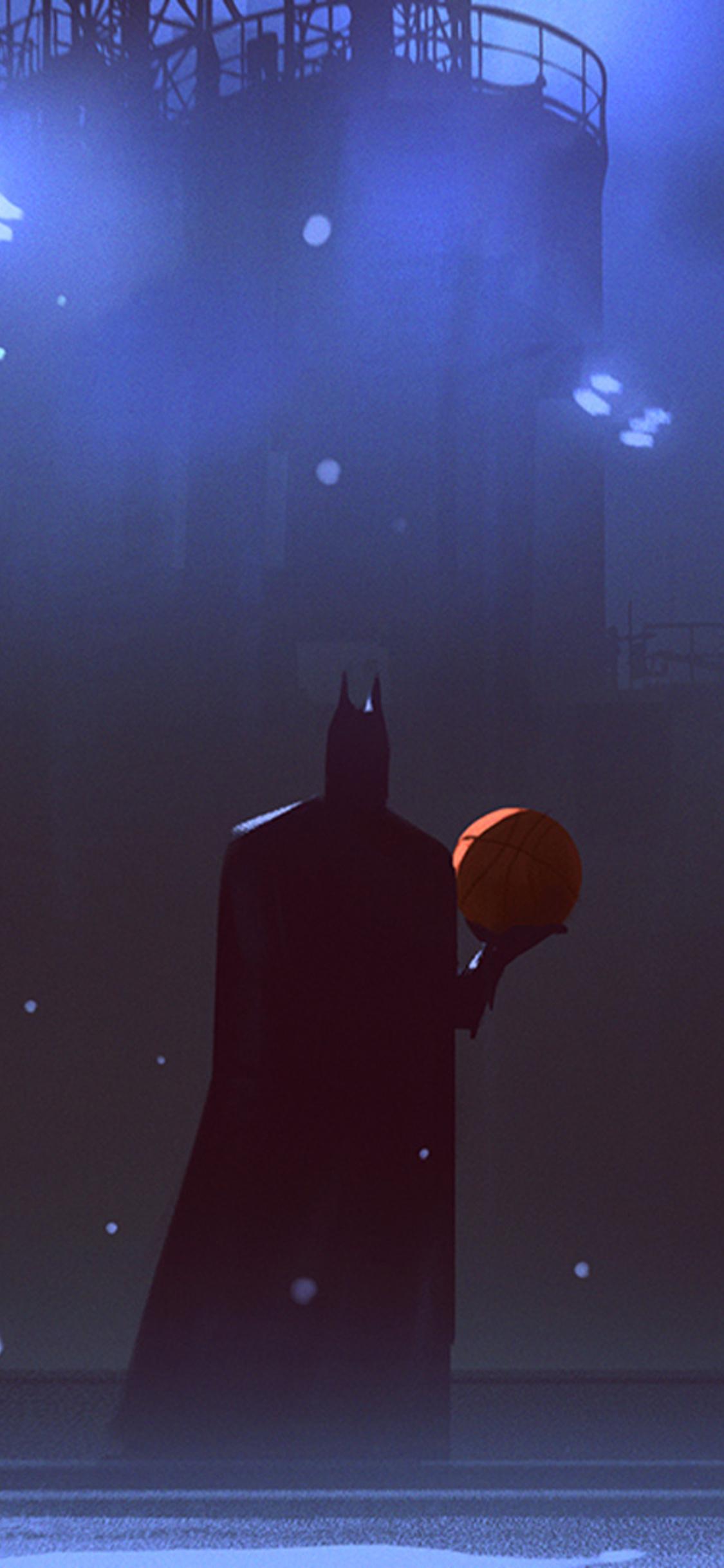 1125x2436 Batman Playing Basketball Iphone Xs Iphone 10