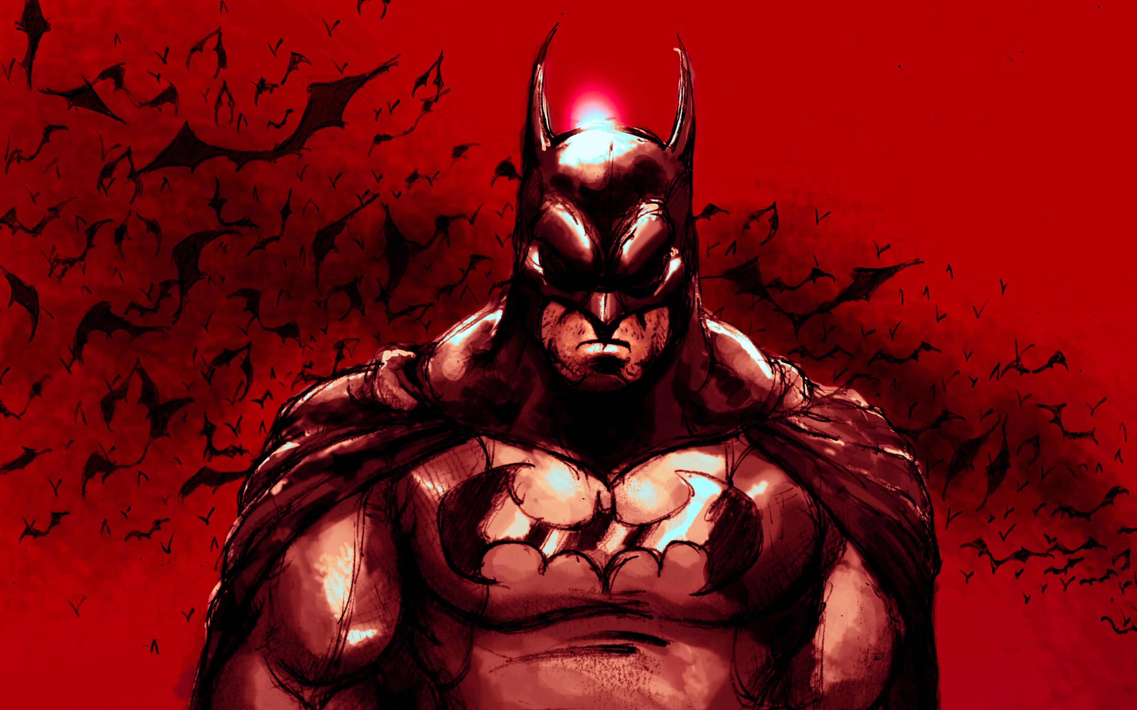 Red Batman Wallpaper 4k