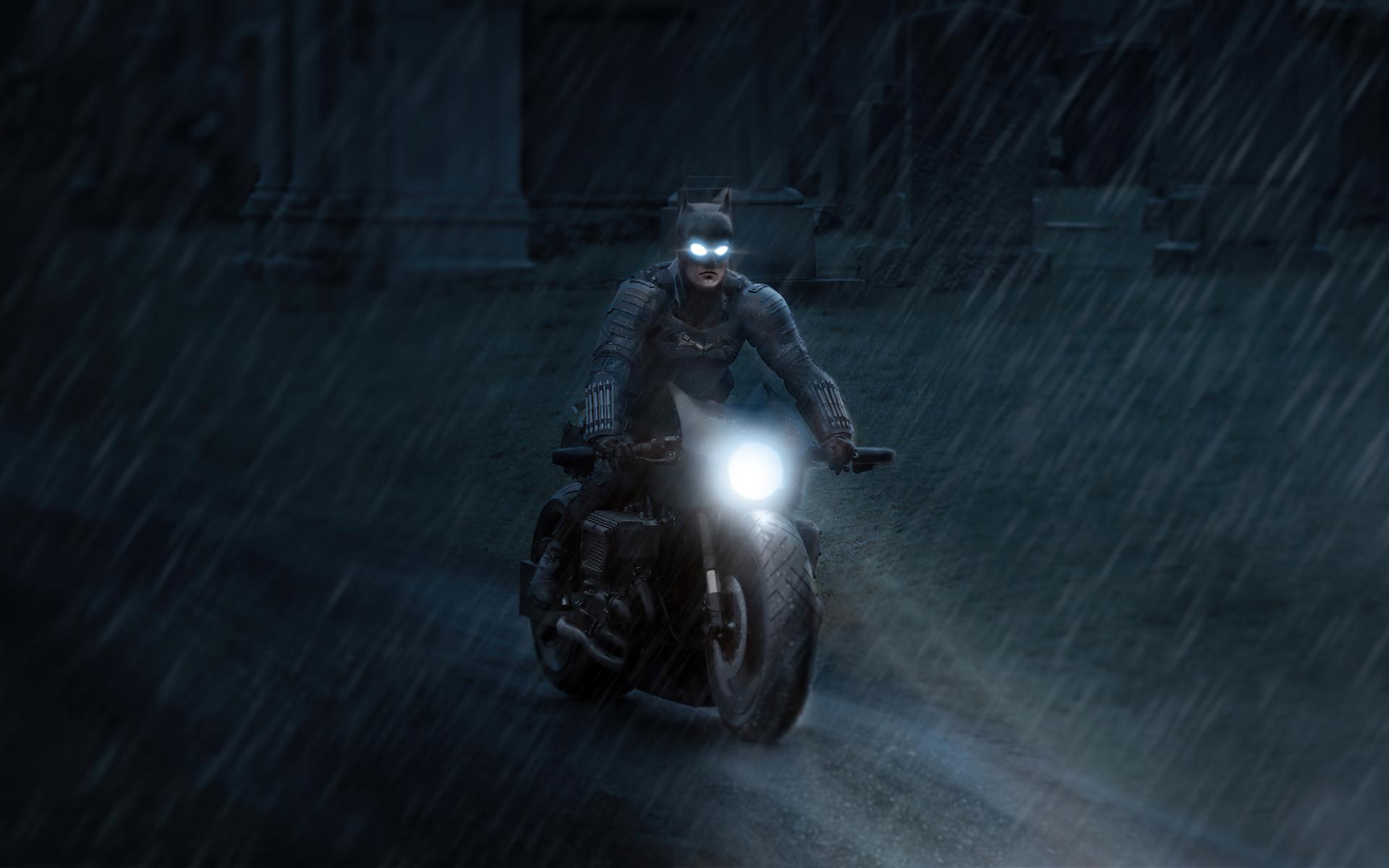 1920x1200 Batman Robert Pattinson On Bike 4k 1080P ...
