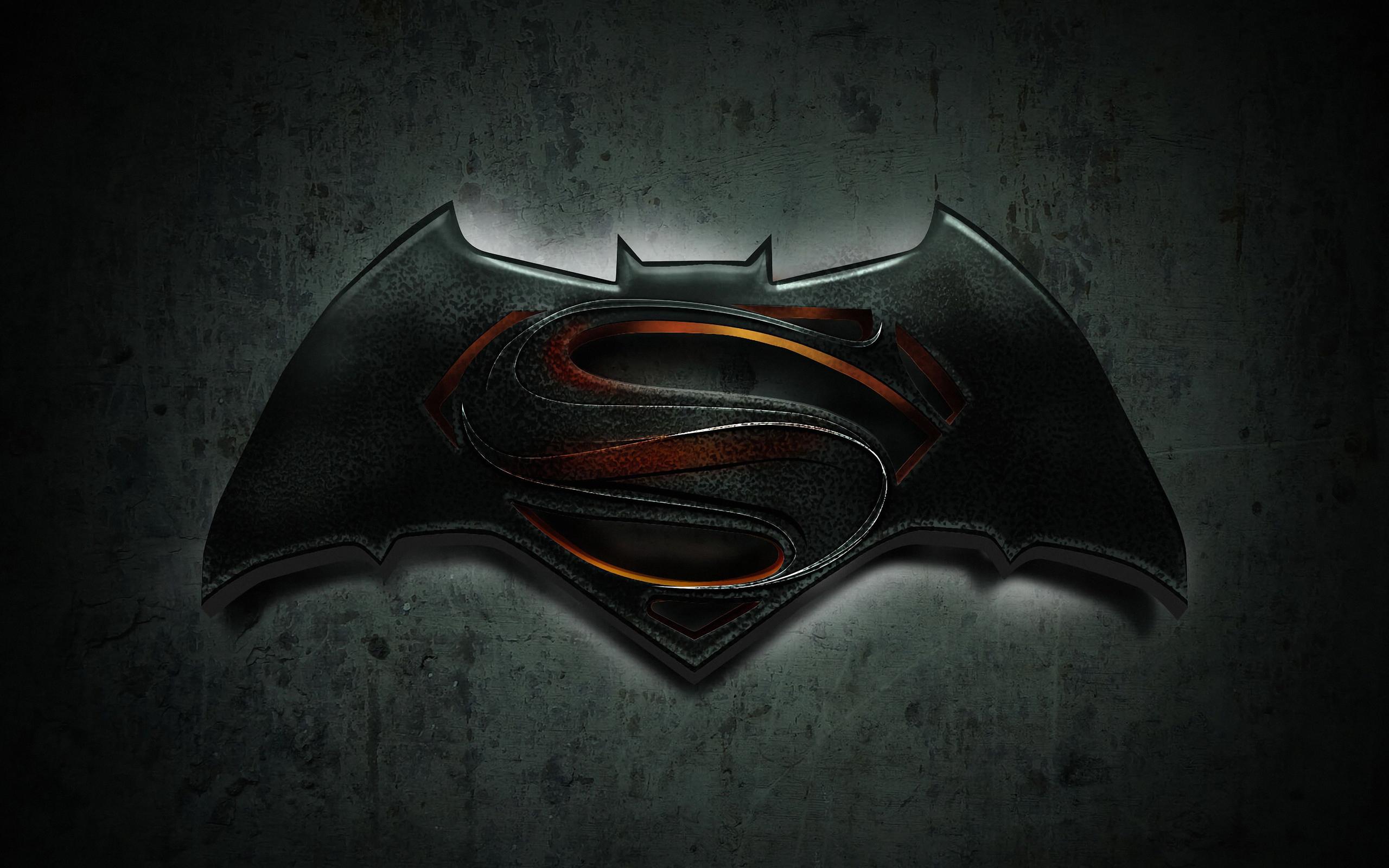2560x1600 Batman Superman Logo 4k