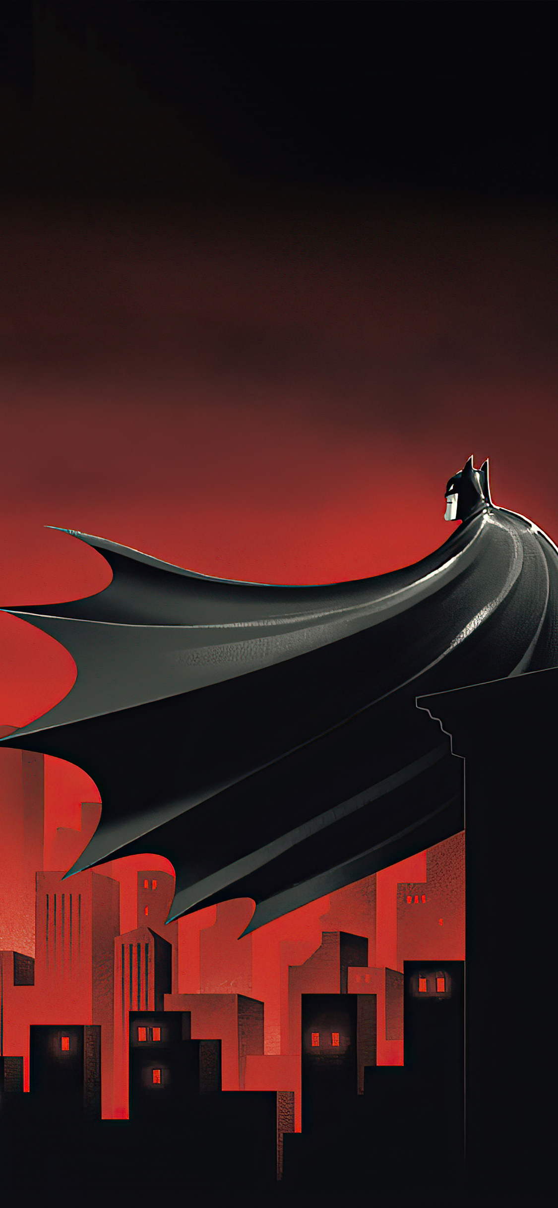 1125x2436 Batman The Animated Series Red World 4k Iphone Xs Iphone 10 Iphone X Hd 4k Wallpapers Images Backgrounds Photos And Pictures