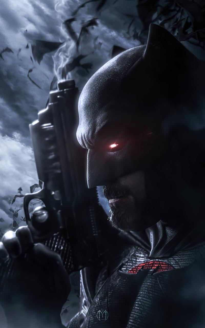 800x1280 Batman With Gun 4k 2020 Nexus 7,Samsung Galaxy ...