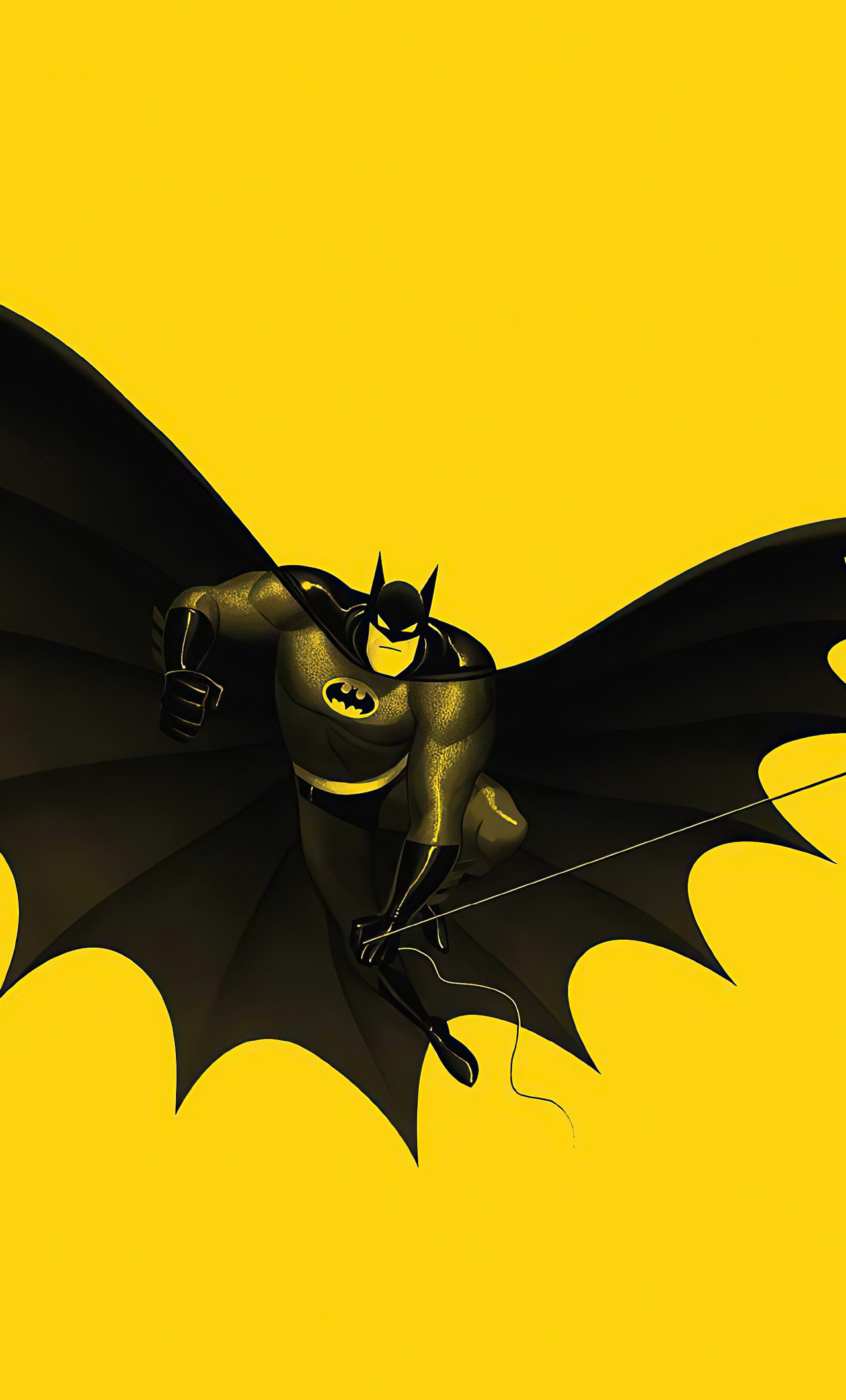 batman yellow 4k wj