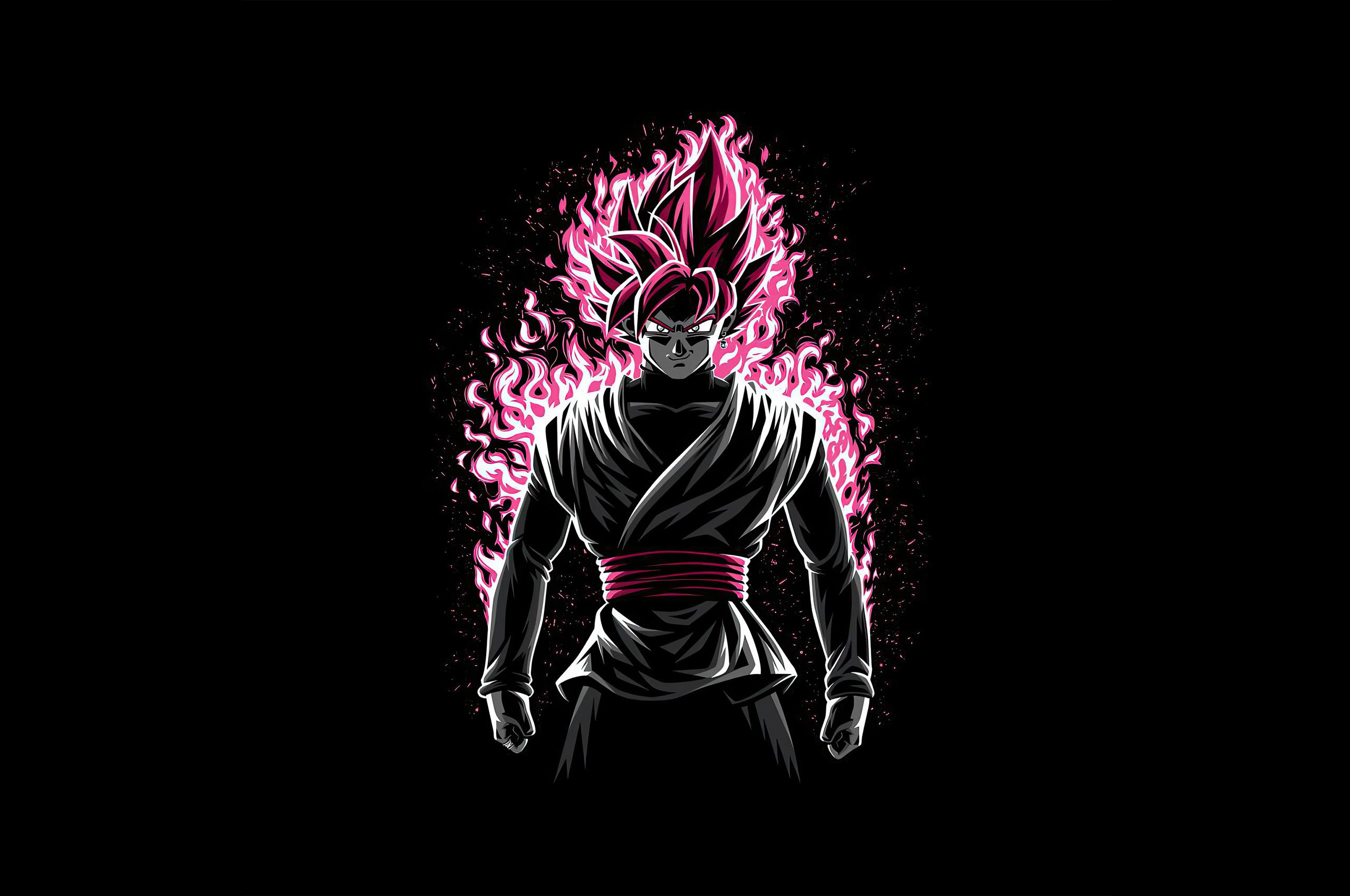 2560x1700 Battle Fire Black Rose Dragon Ball Z 4k ...