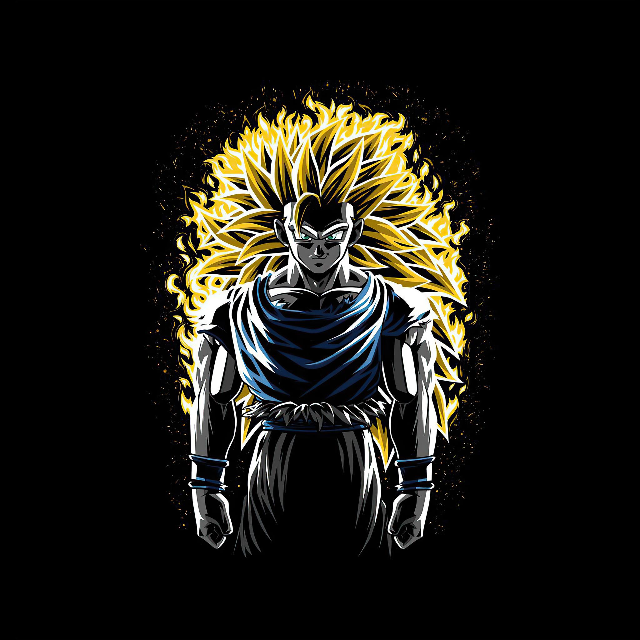 2048x2048 Battle Fire Super Saiyan 3 Goku Dragon Ball Z