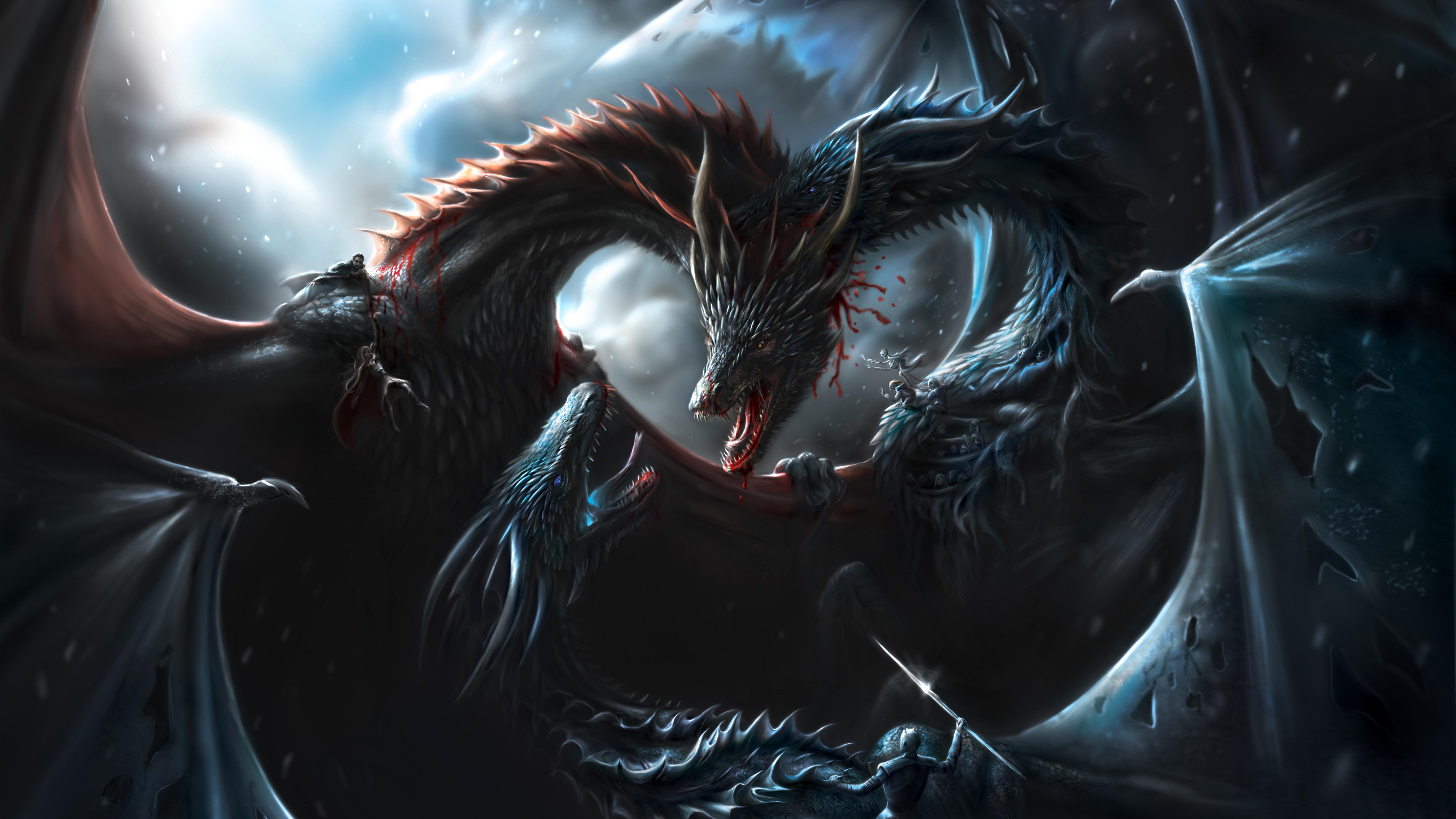7680x4320 Battle Of Dragons Game Of Thrones 8k 8k HD 4k