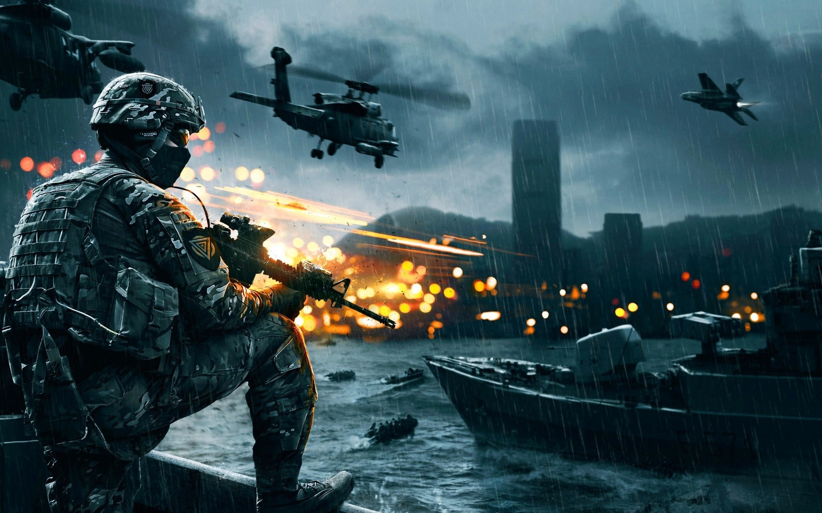 Download Wallpaper 1280x1280 Battlefield 4 Game Ea: 2880x1800 Battlefield 4 Macbook Pro Retina HD 4k