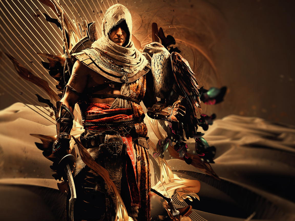 1152x864 Bayek Of Siwa Assassins Creed Origins 4k 1152x864