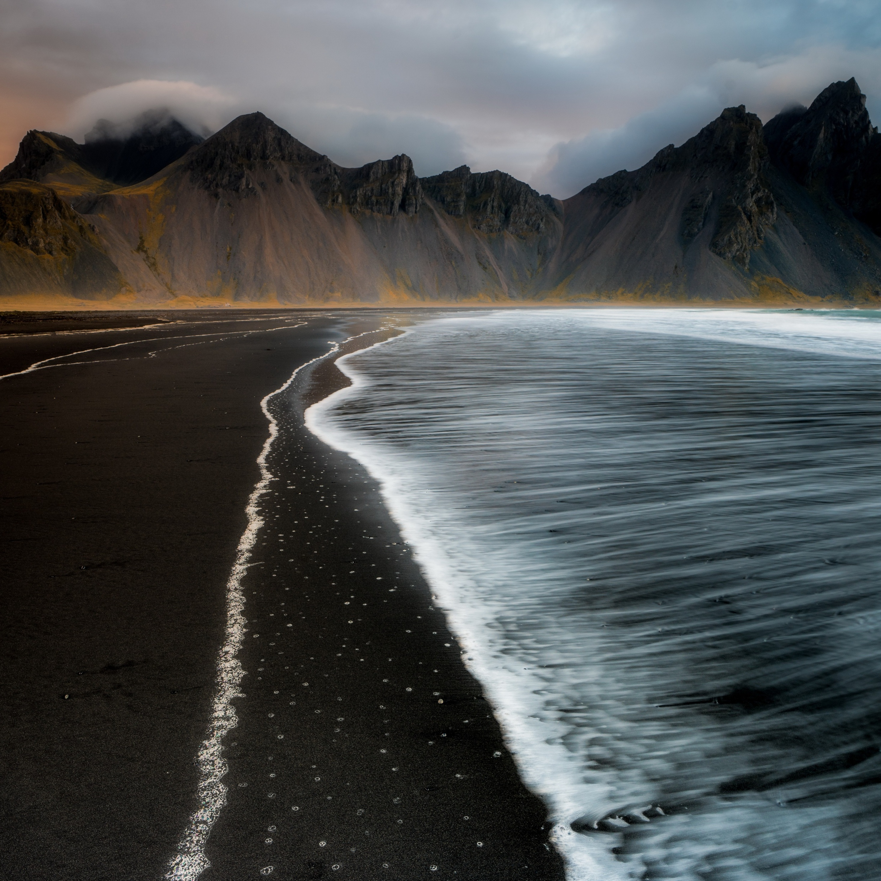 2932x2932 Beach Foam Iceland Mountain Nature 4k Ipad Pro