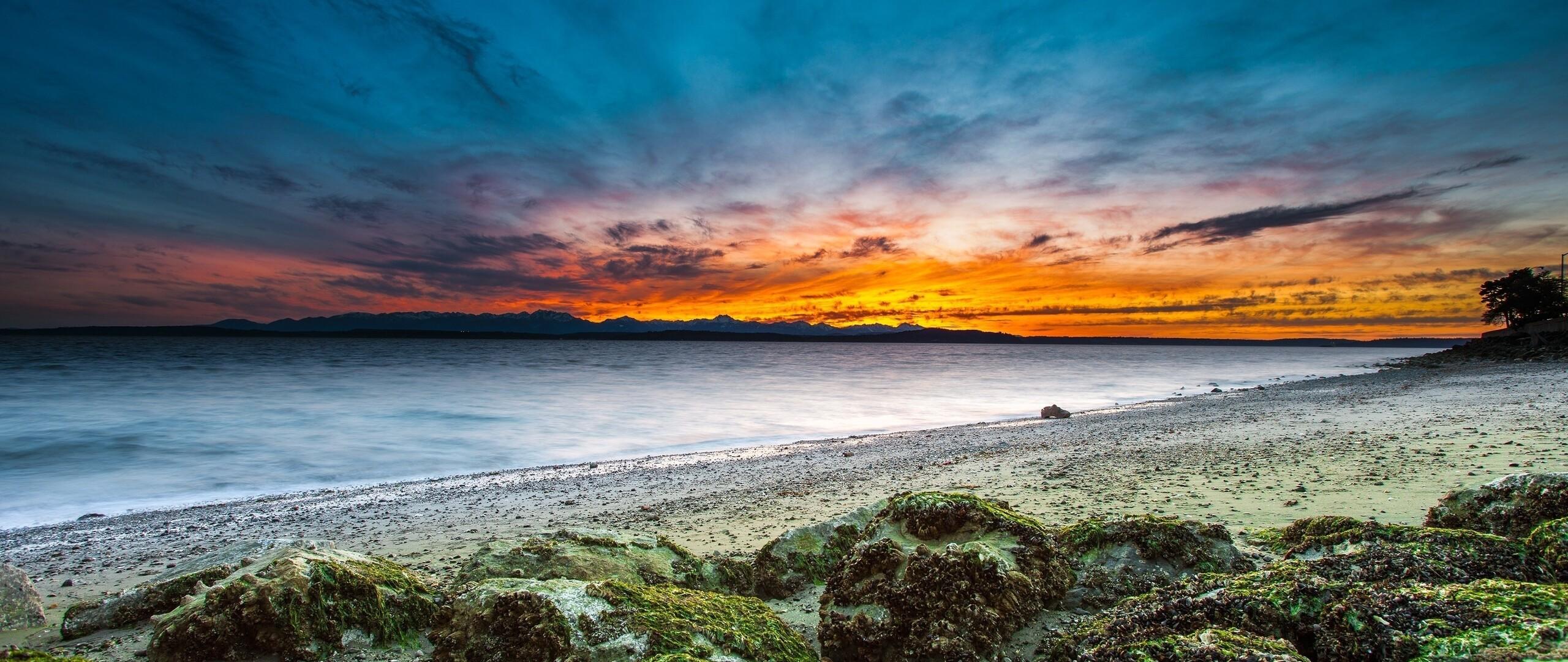 2560x1080 Beach Sky Water Background 2560x1080 Resolution ...