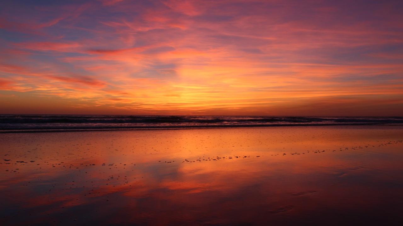 1280x720 beach sunset evening 4k 720p hd 4k wallpapers, images