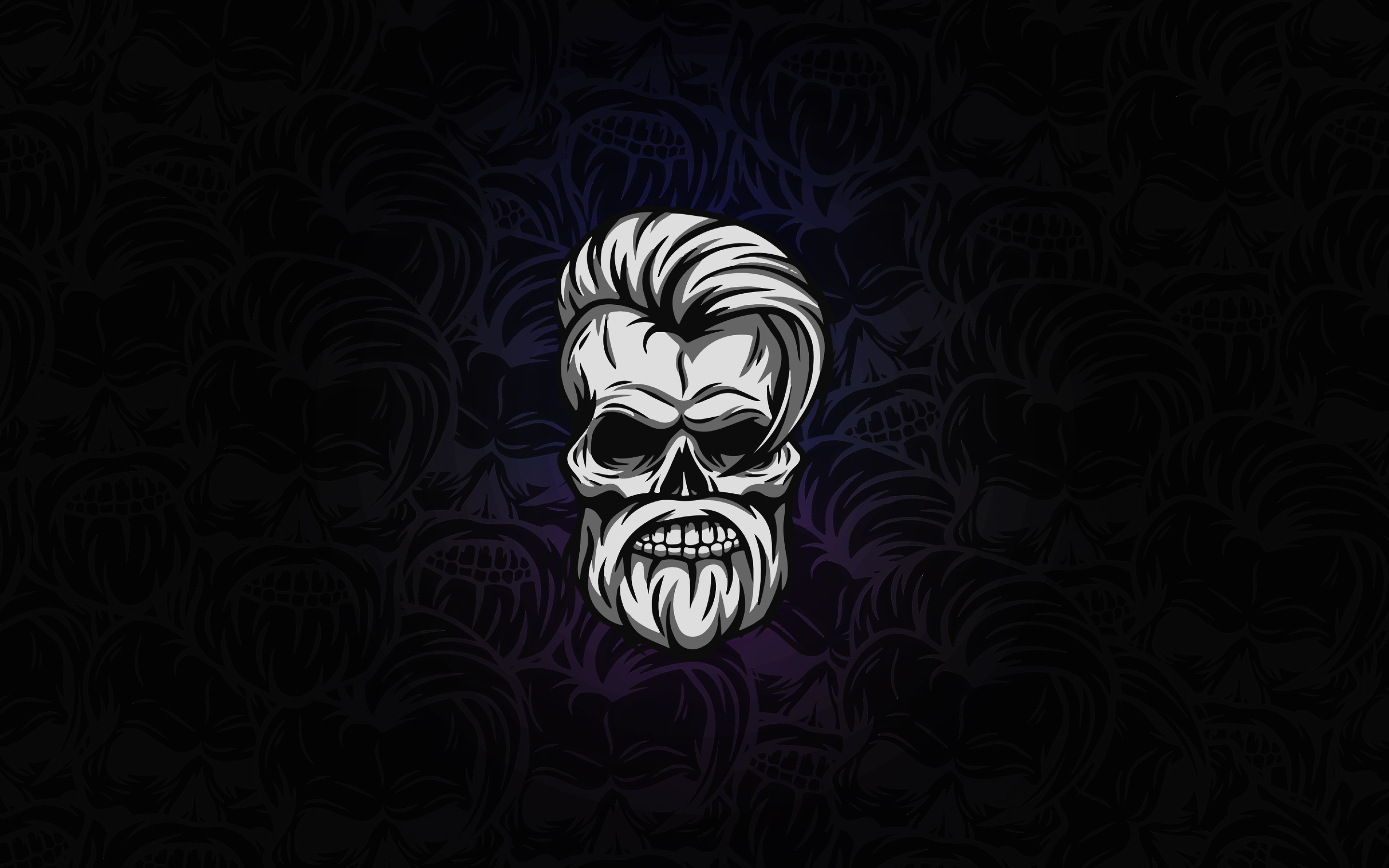 2880x1800 Beard Skull Dark 4k Macbook Pro Retina Hd 4k Wallpapers Images Backgrounds Photos And Pictures