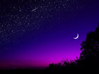 beautiful blue purple sky 4k 9g