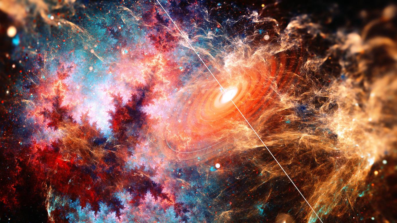beautiful galaxy fractal art 4a