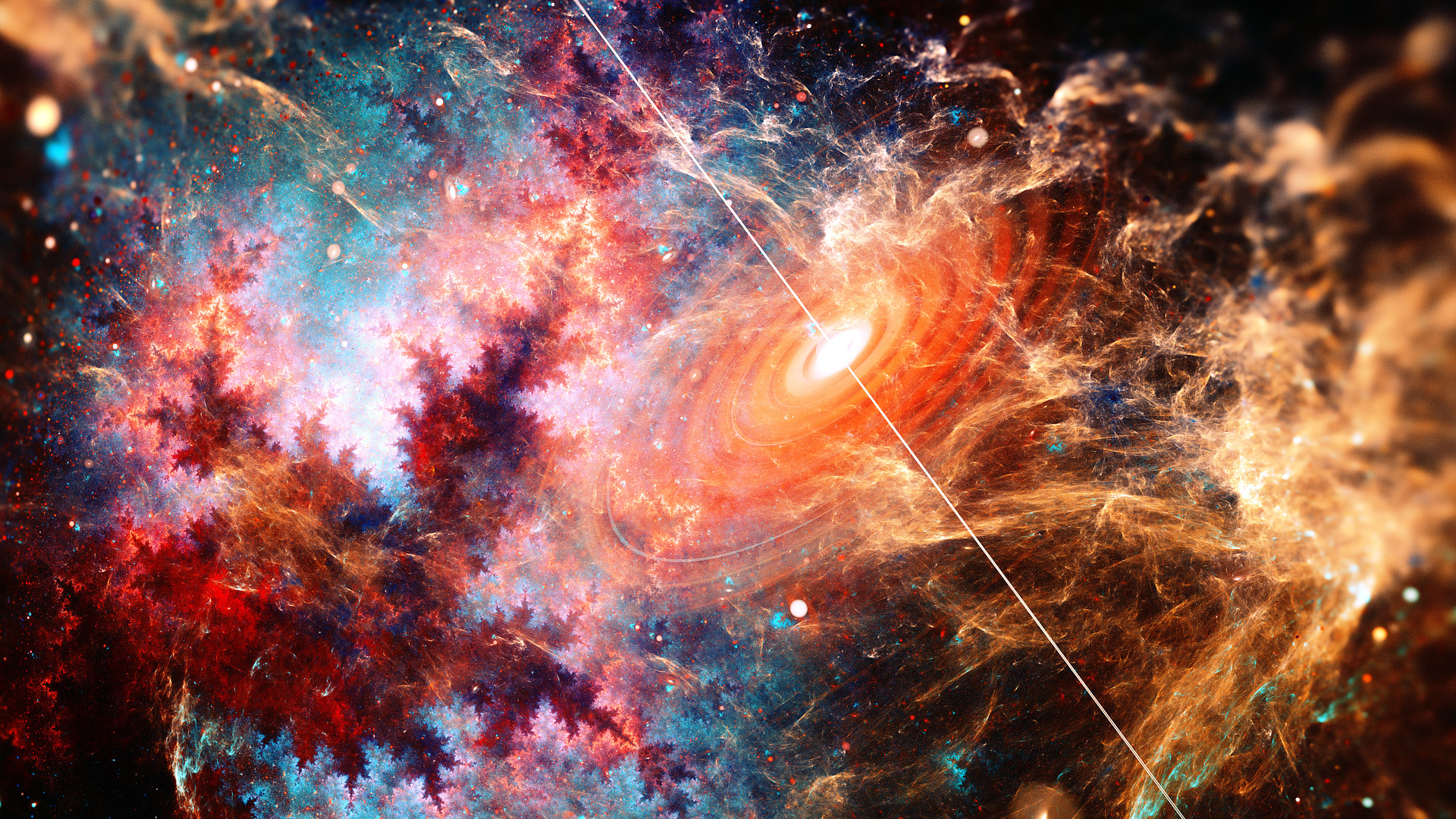 beautiful galaxy fractal art 4a