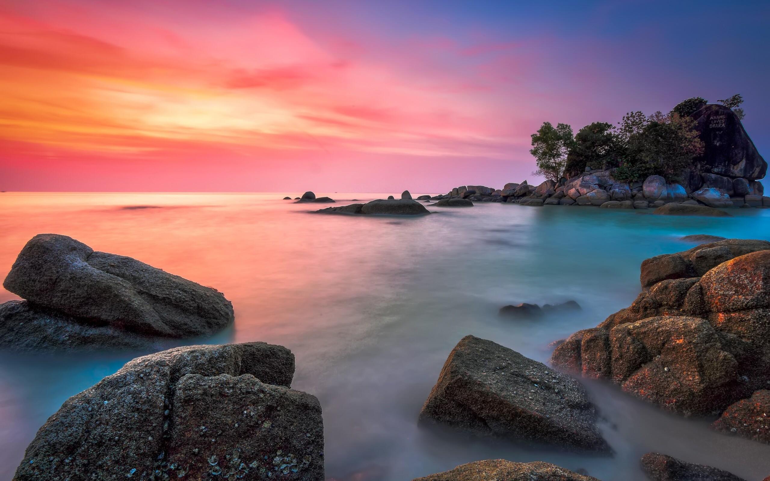 море остров небо камни  № 1034205 без смс