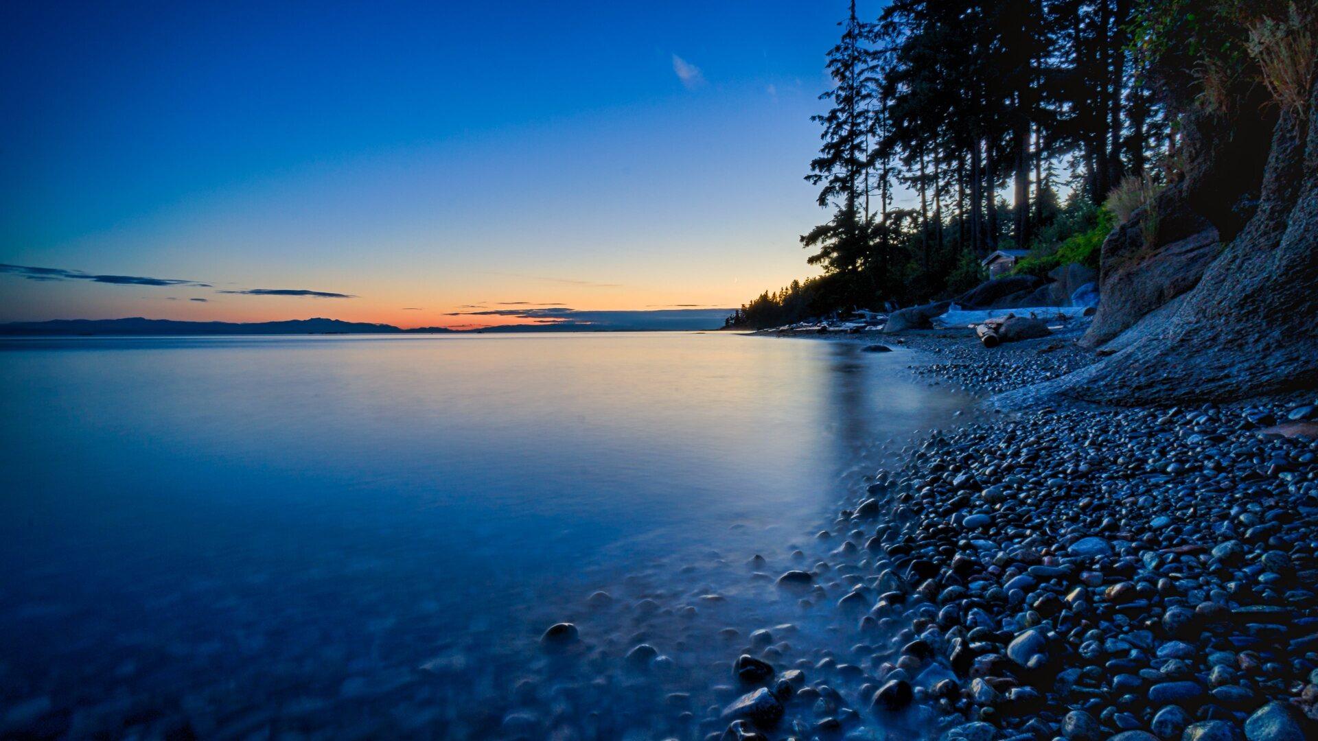 1920x1080 Beautiful Sunset Sea Sky Scenery Landscape 4k ...