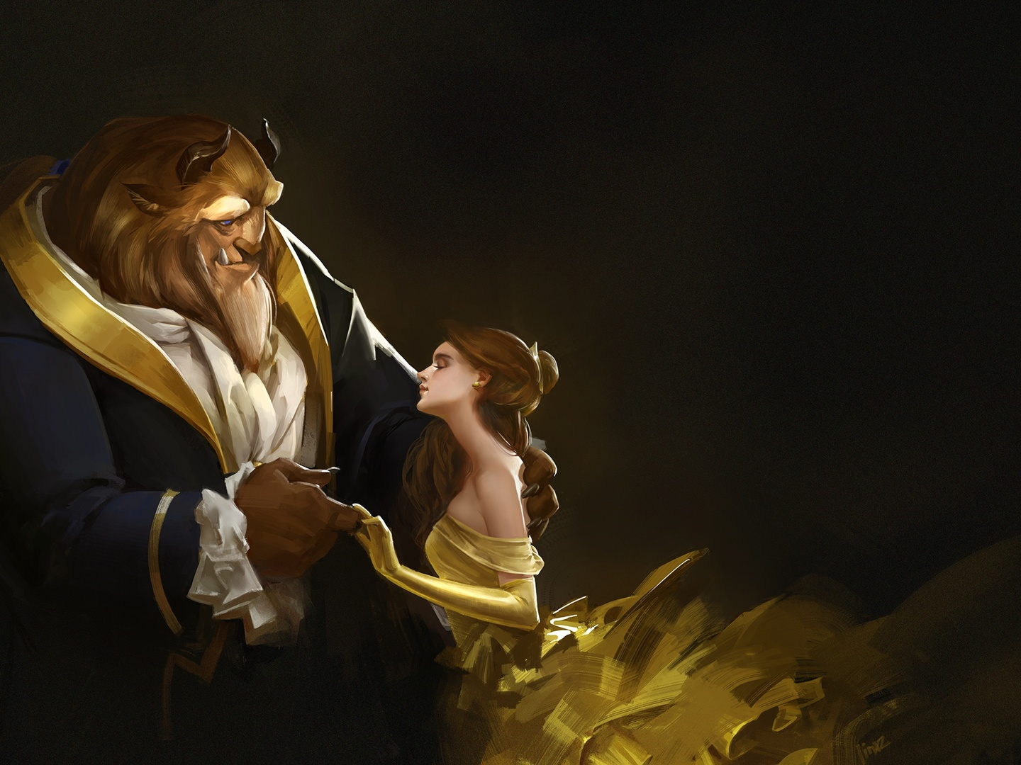 Download Beauty And Beast: Download Beauty And The Beast Artwork HD Wallpaper In