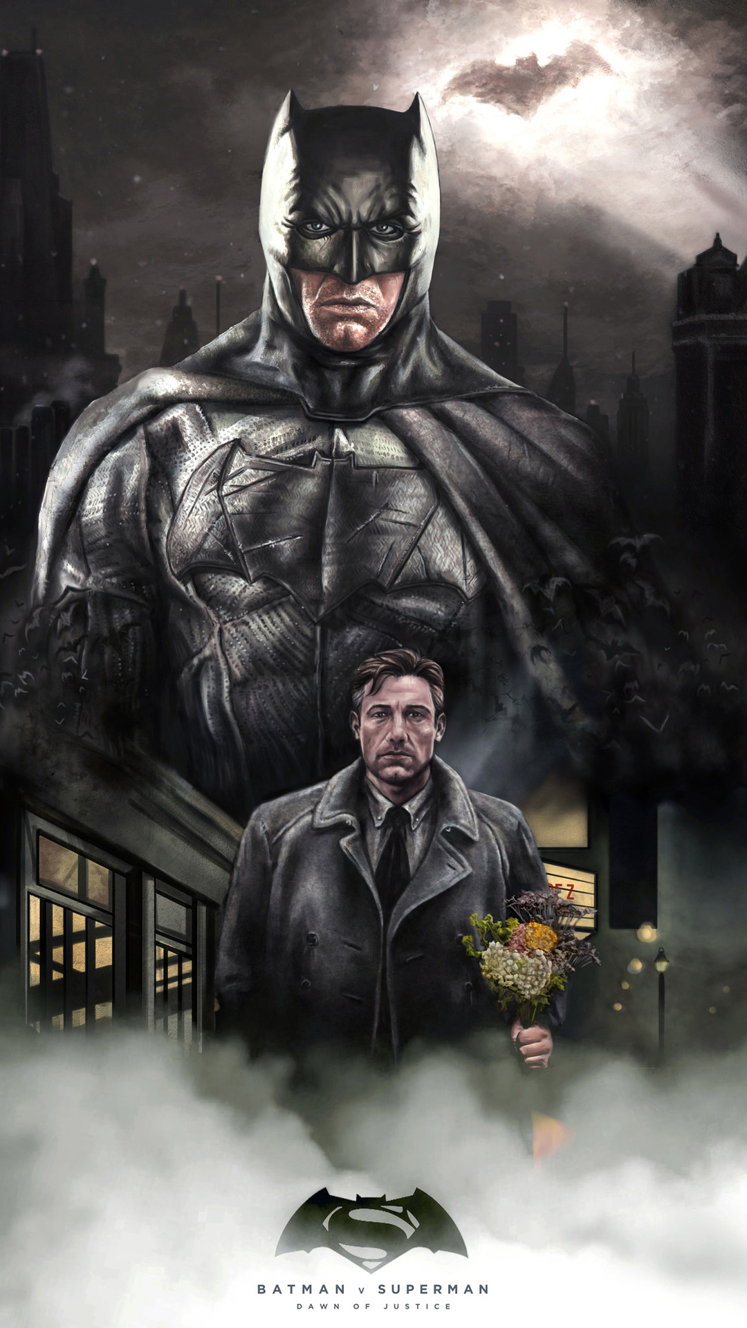 1080x1920 ben affleck batman artwork iphone 7 6s 6 plus - Ben affleck batman wallpaper ...