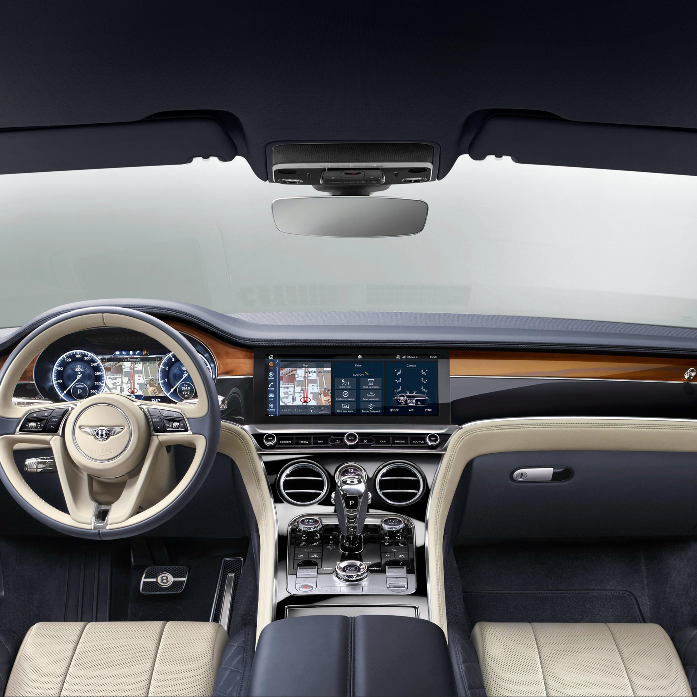 2932x2932 Bentley Continental Gt 2017 Interior Ipad Pro Retina Display Hd 4k Wallpapers Images