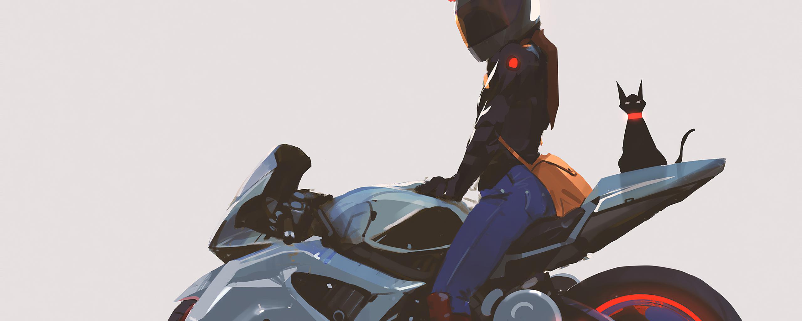 biker-girl-with-cat-behind-4k-7w.jpg