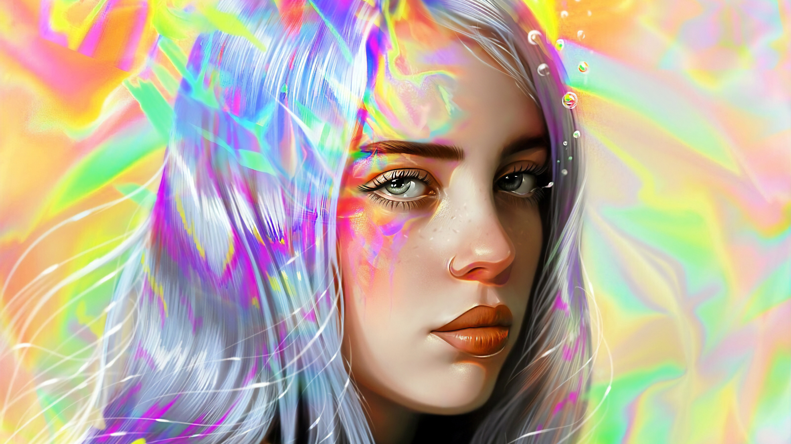 2560x1440 Billie Eilish Art 5k 1440p Resolution Hd 4k Wallpapers Images Backgrounds Photos And Pictures