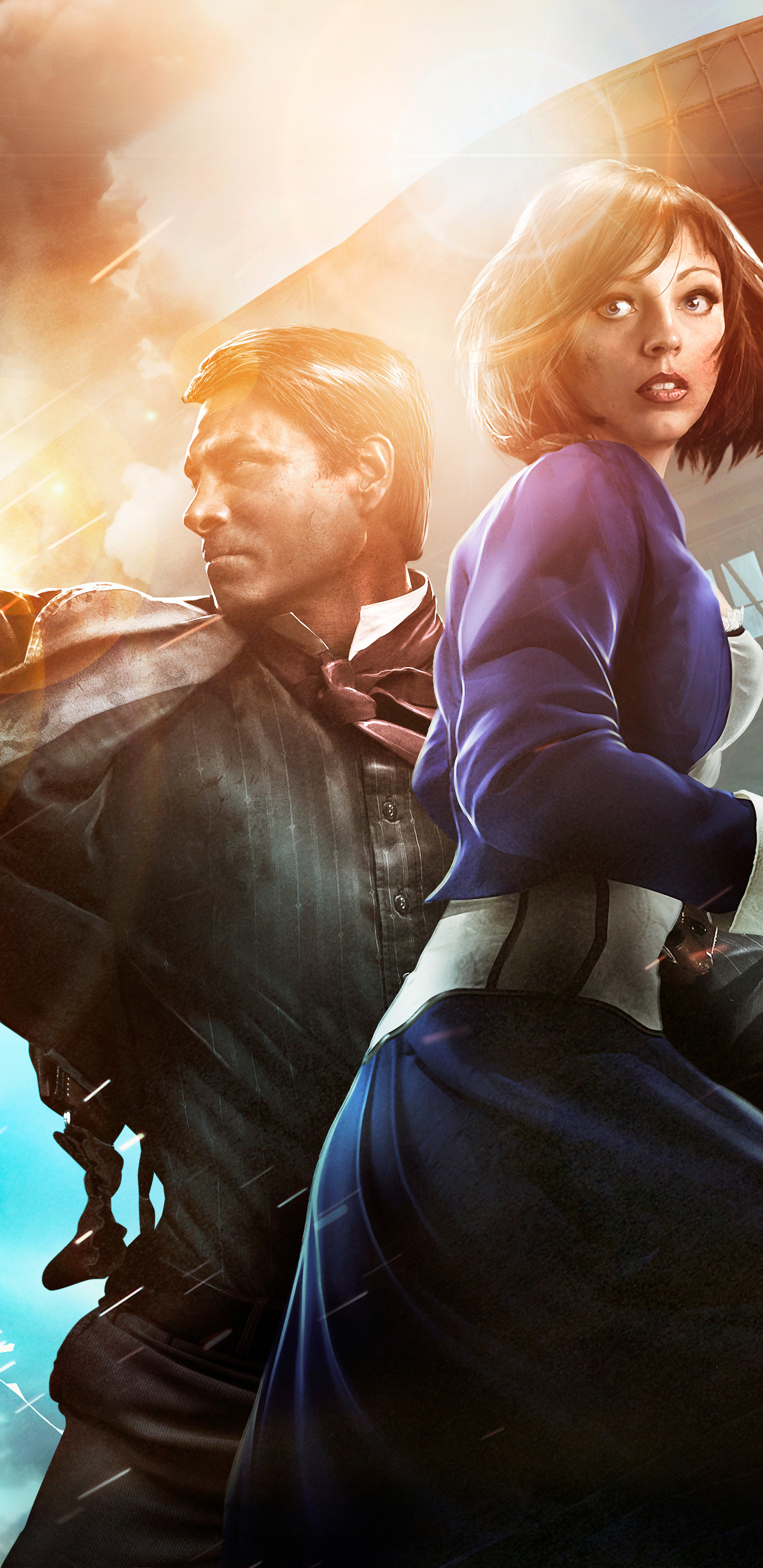 Bioshock Infinite Booker Dewitt And Elizabeth 8k F8