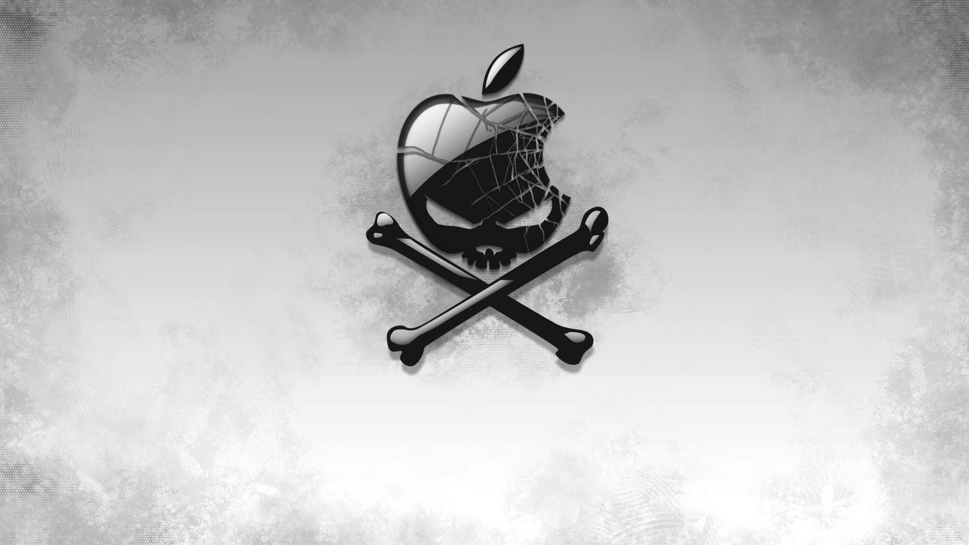1920x1080 black apple skull laptop full hd 1080p hd 4k wallpapers