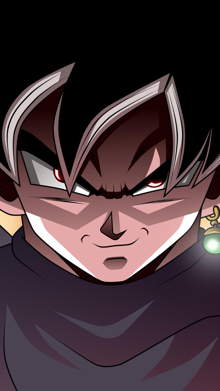 750x1334 Black Goku Dragon Ball Super 8k Iphone 6 Iphone 6s