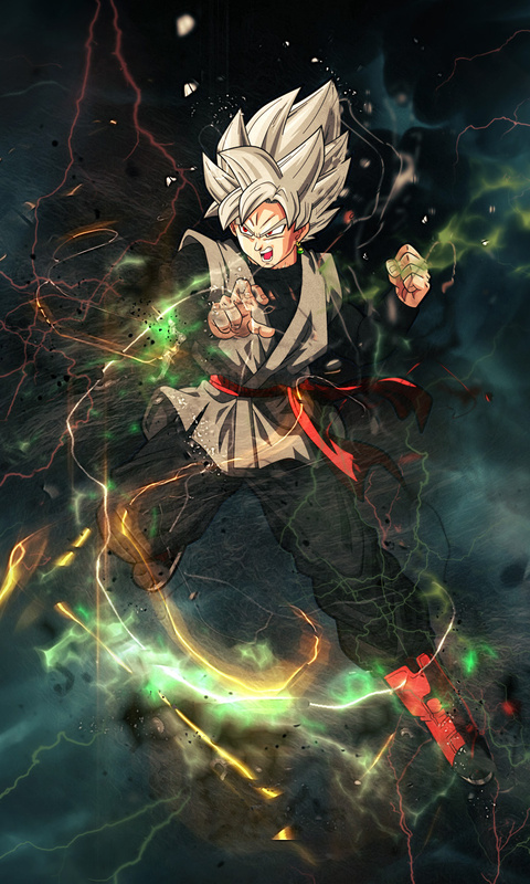 480x800 black goku dragon ball super anime galaxy note htc - Supercar wallpaper hd for android ...