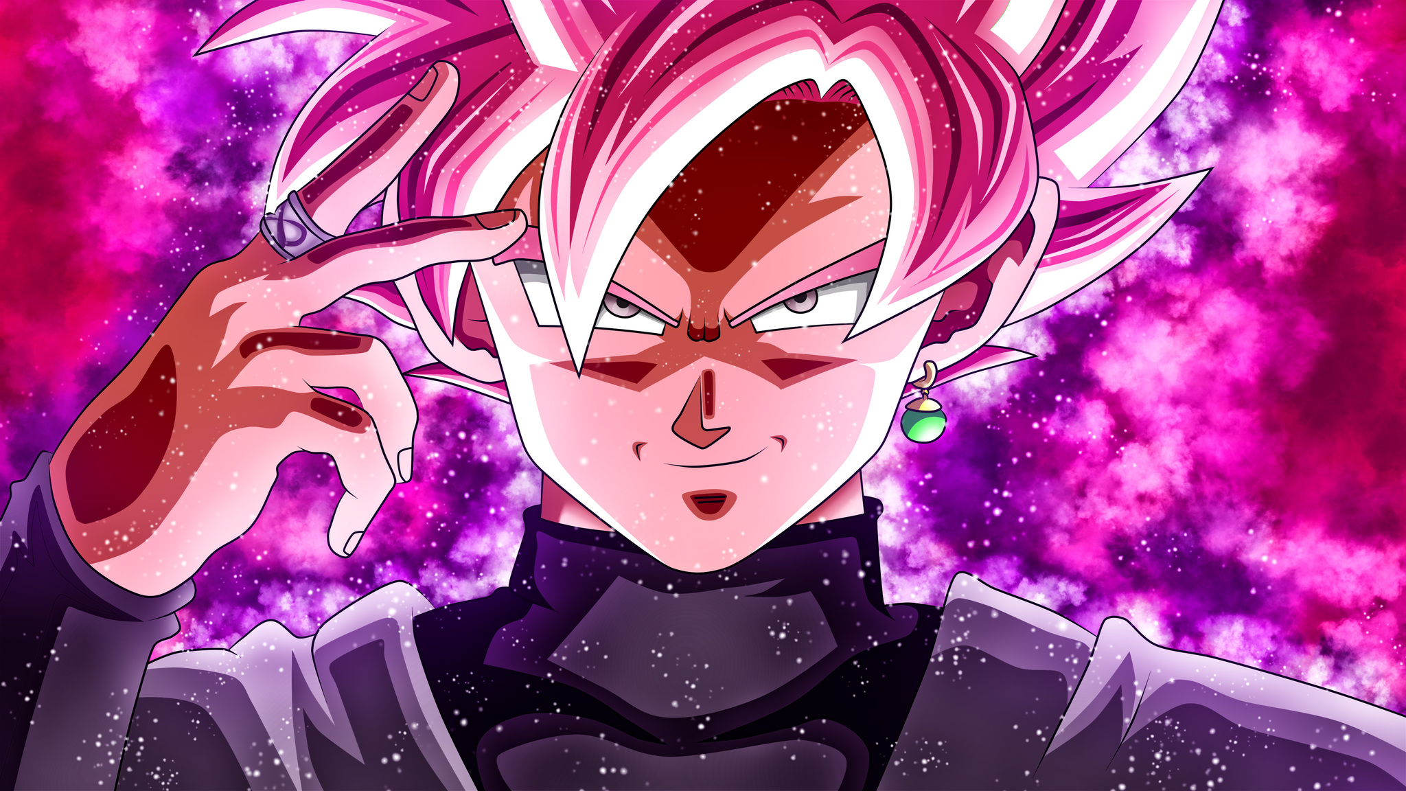 2048x1152 black goku dragon ball super 2048x1152 resolution hd 4k