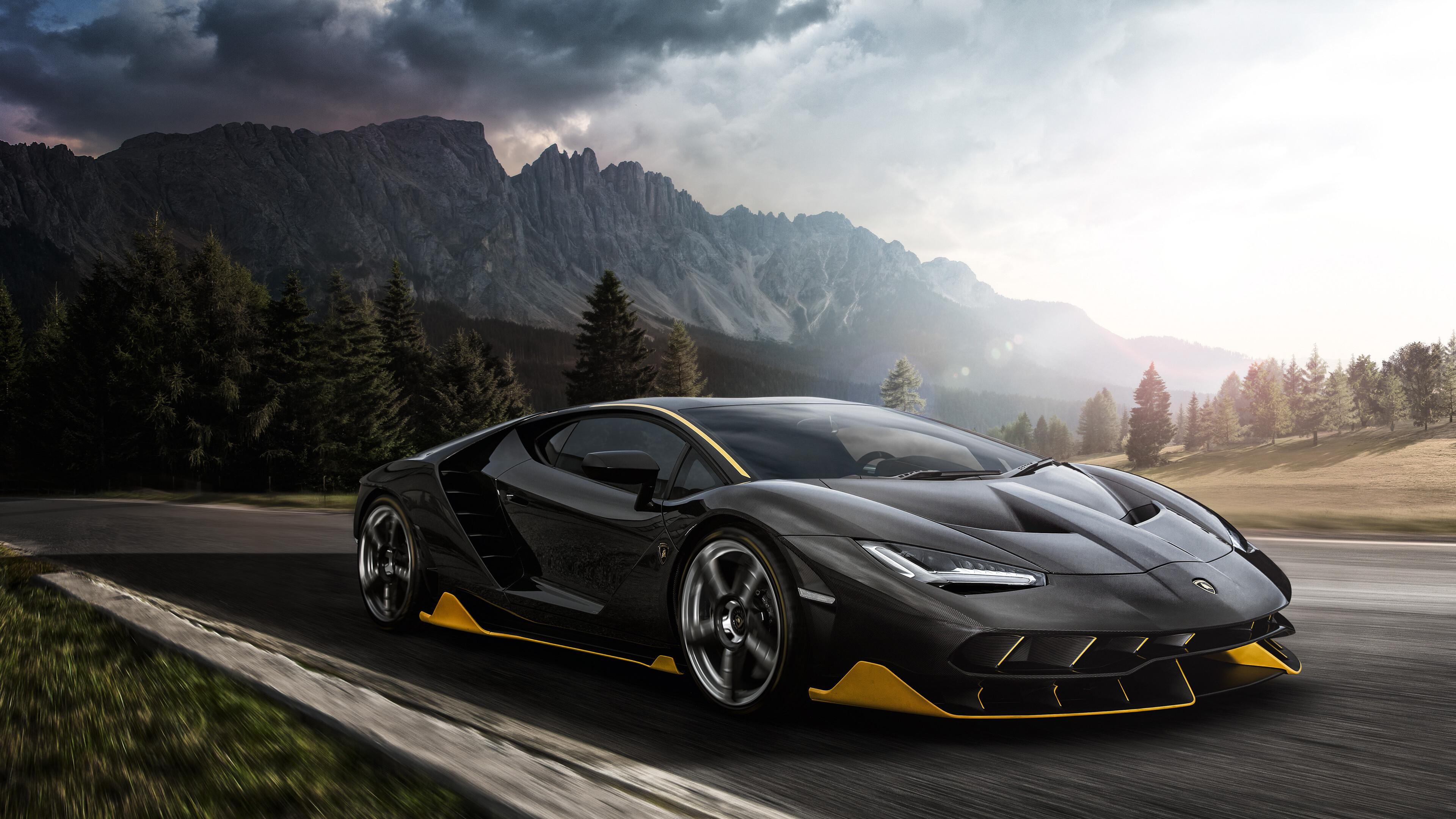3840x2160 Black Lamborghini Aventador 4k 2018 4k HD 4k ...