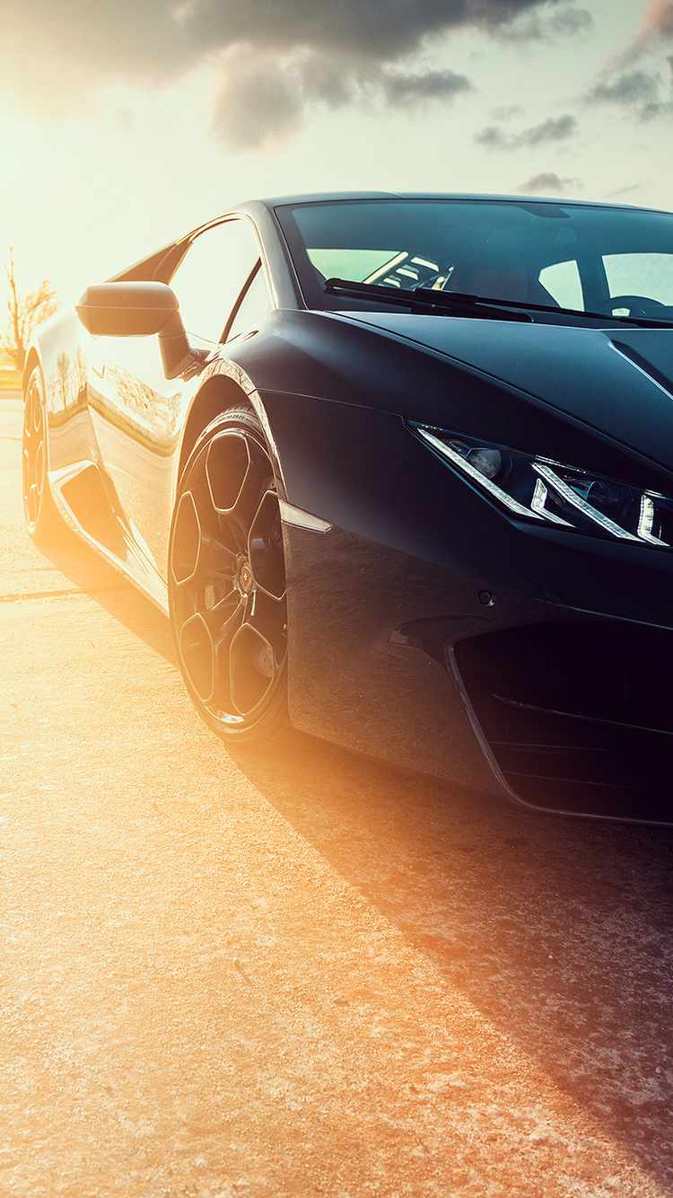 750x1334 Black Lamborghini Huracan Front Led Lights Iphone 6 Iphone