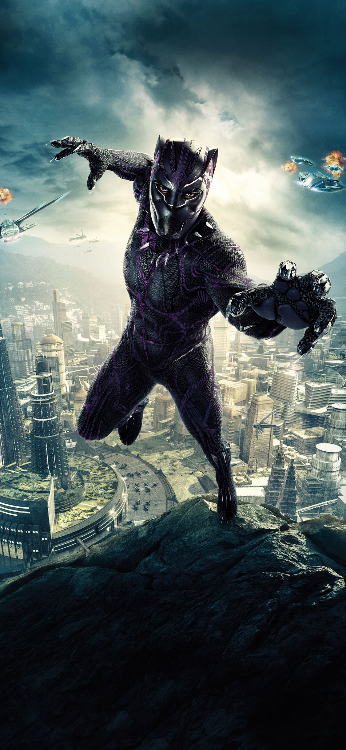 1125x2436 Black Panther 10k Poster Iphone XS,Iphone 10 ...
