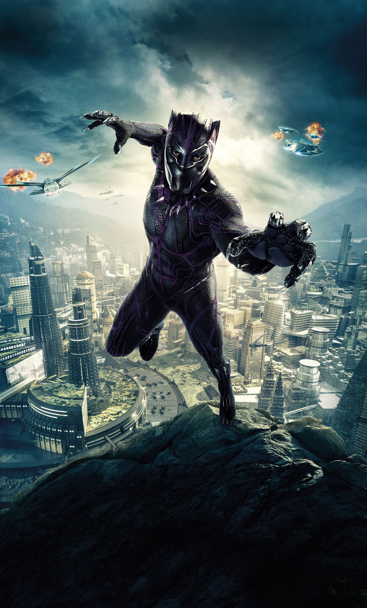 1280x2120 Black Panther 10k Poster iPhone 6+ HD 4k ...