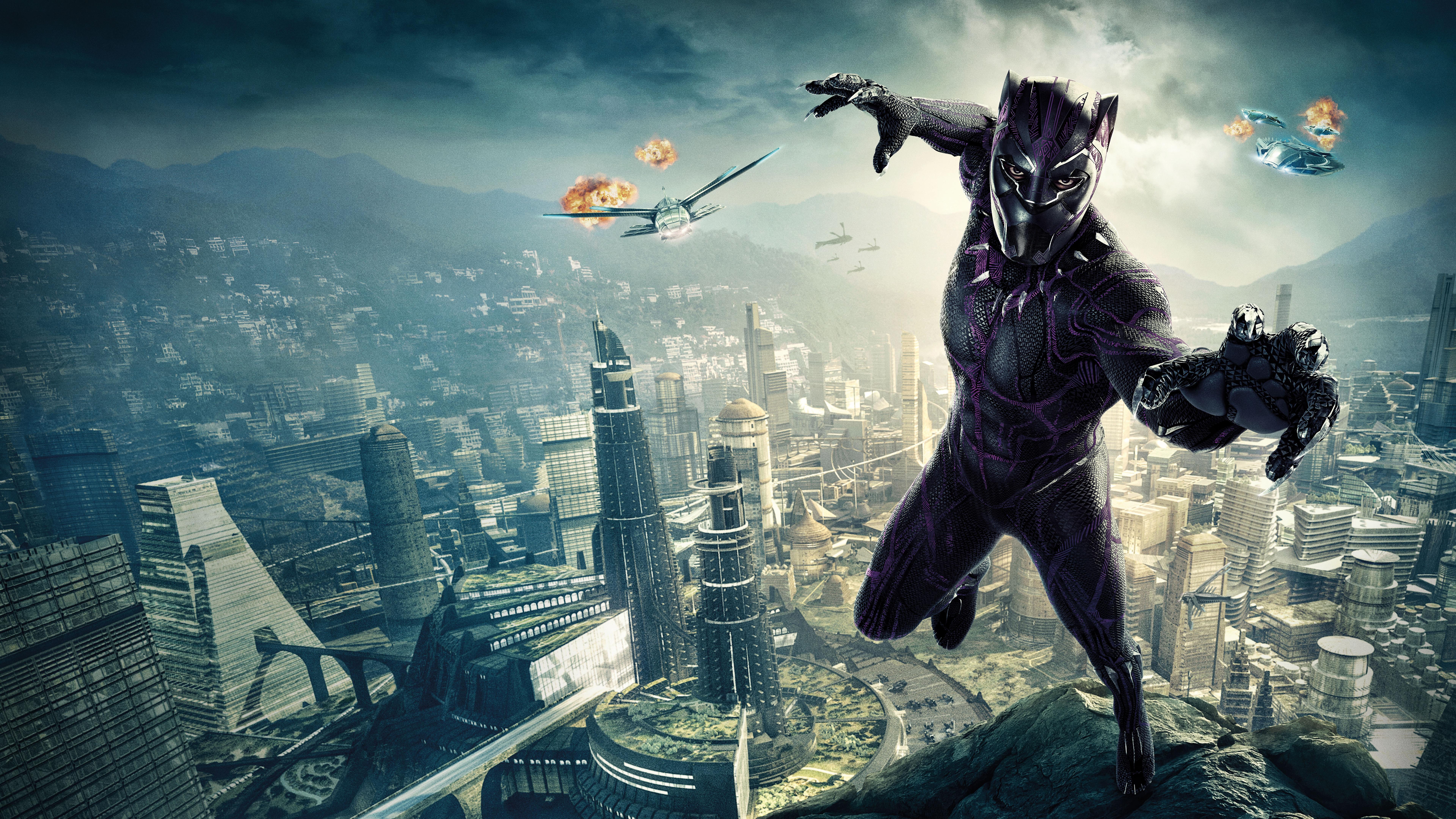 7680x4320 Black Panther 10k Poster 8k Hd 4k Wallpapers
