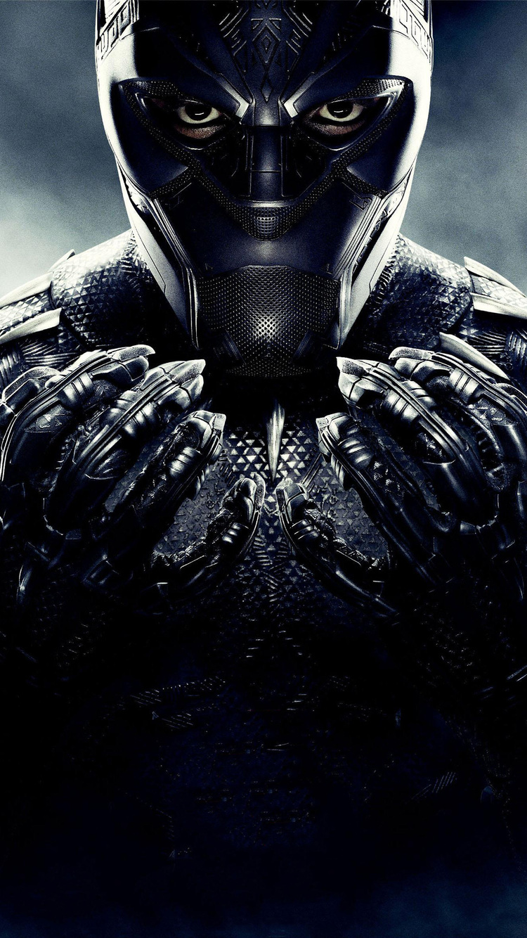 750x1334 Black Panther 2018 Poster iPhone 6, iPhone 6S ...