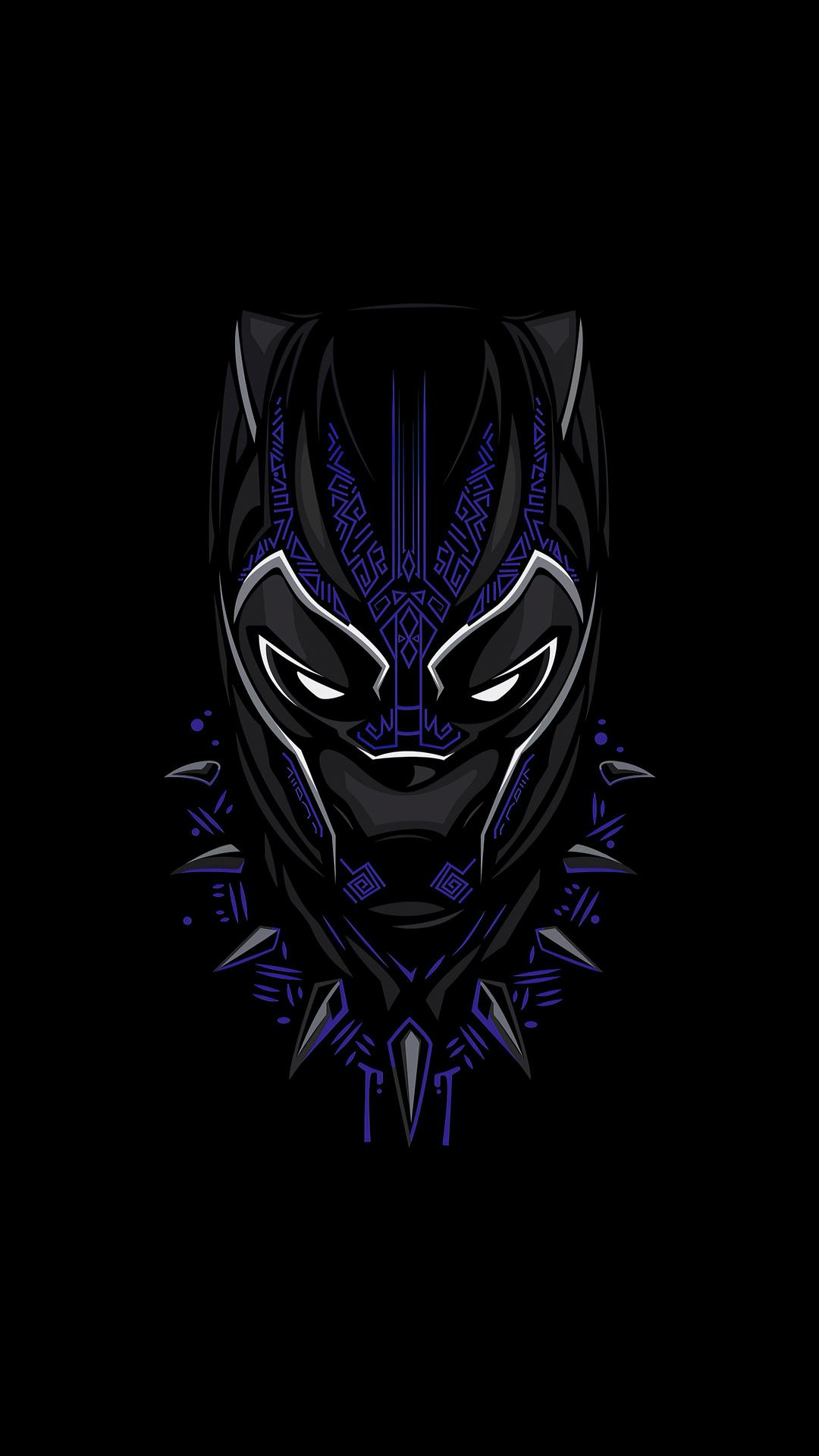 1080x1920 Black Panther 4k Minimalism 2020 Iphone 7,6s,6 ...