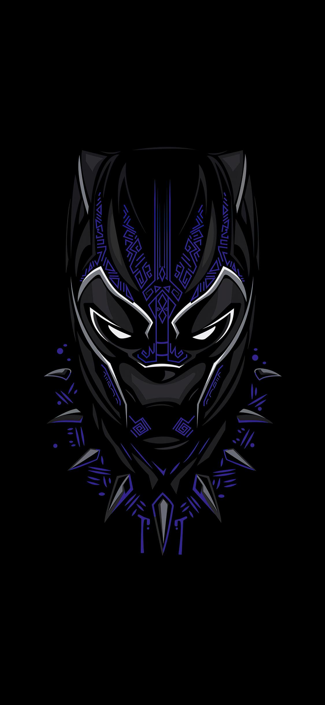 1125x2436 Black Panther 4k Minimalism 2020 Iphone XS ...