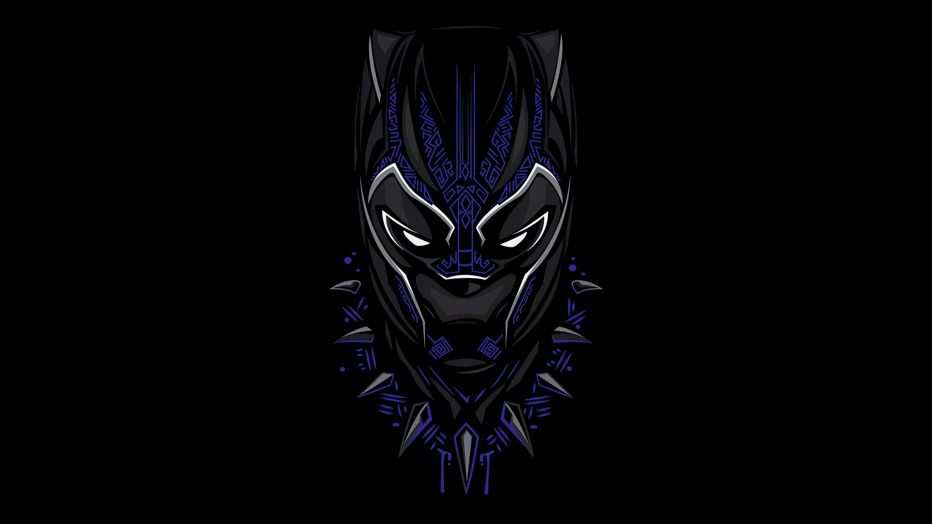 1920x1080 Black Panther 4k Minimalism 2020 Laptop Full HD ...