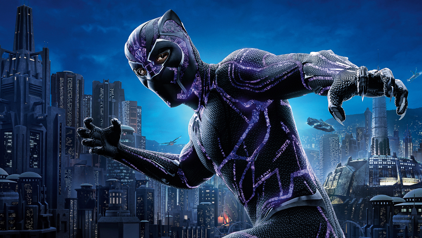 1360x768 Black Panther 4k Movie Poster 2018 Laptop HD HD 4k Wallpapers, Images, Backgrounds