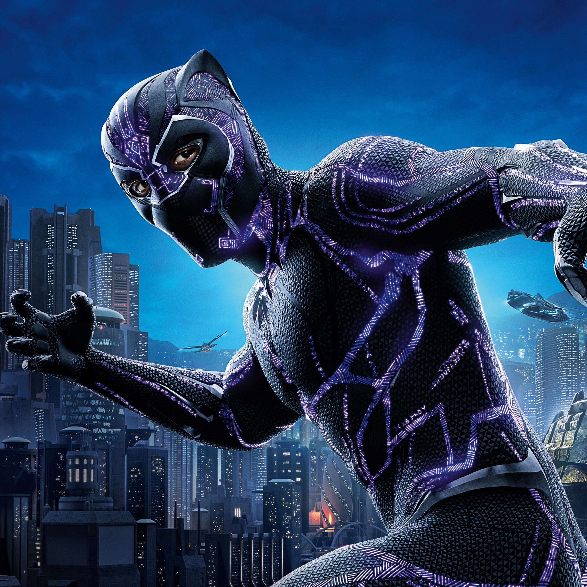 Hd 1600x900 Wallpaper: 2048x2048 Black Panther 4k Movie Poster 2018 Ipad Air HD