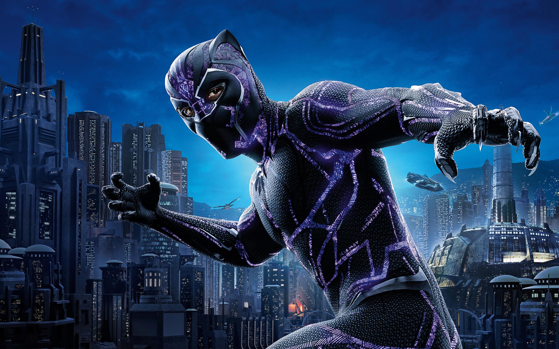 2880x1800 Black Panther 4k Movie Poster 2018 Macbook Pro