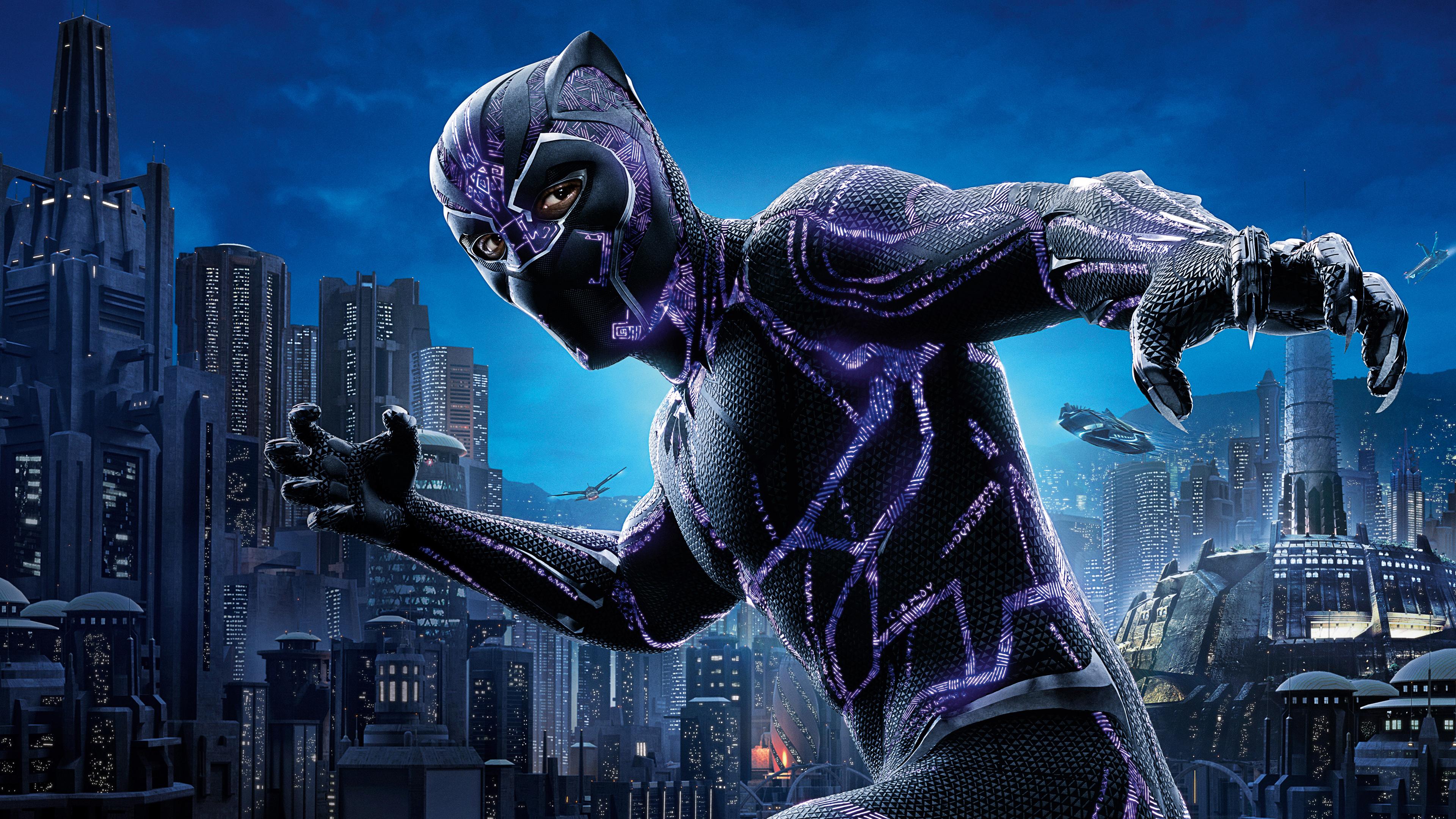 3840x2160 Black Panther 4k Movie Poster 2018 4k HD 4k ...