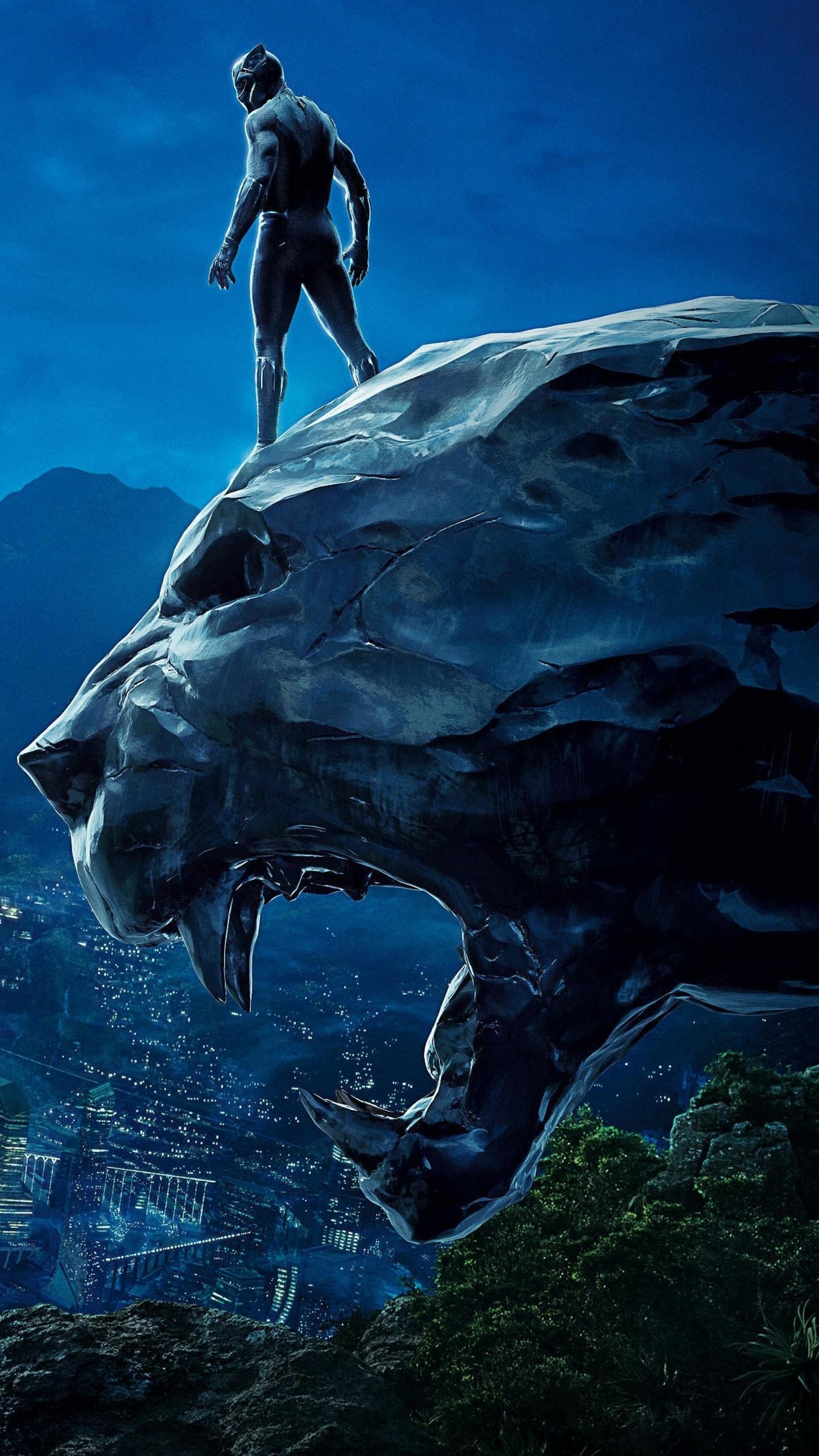 1440x2560 Black Panther 4k Movie Poster Samsung Galaxy S6 ...
