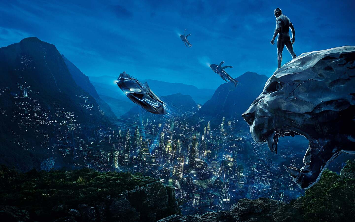1440x900 Black Panther 4k Movie Poster 1440x900 Resolution ...