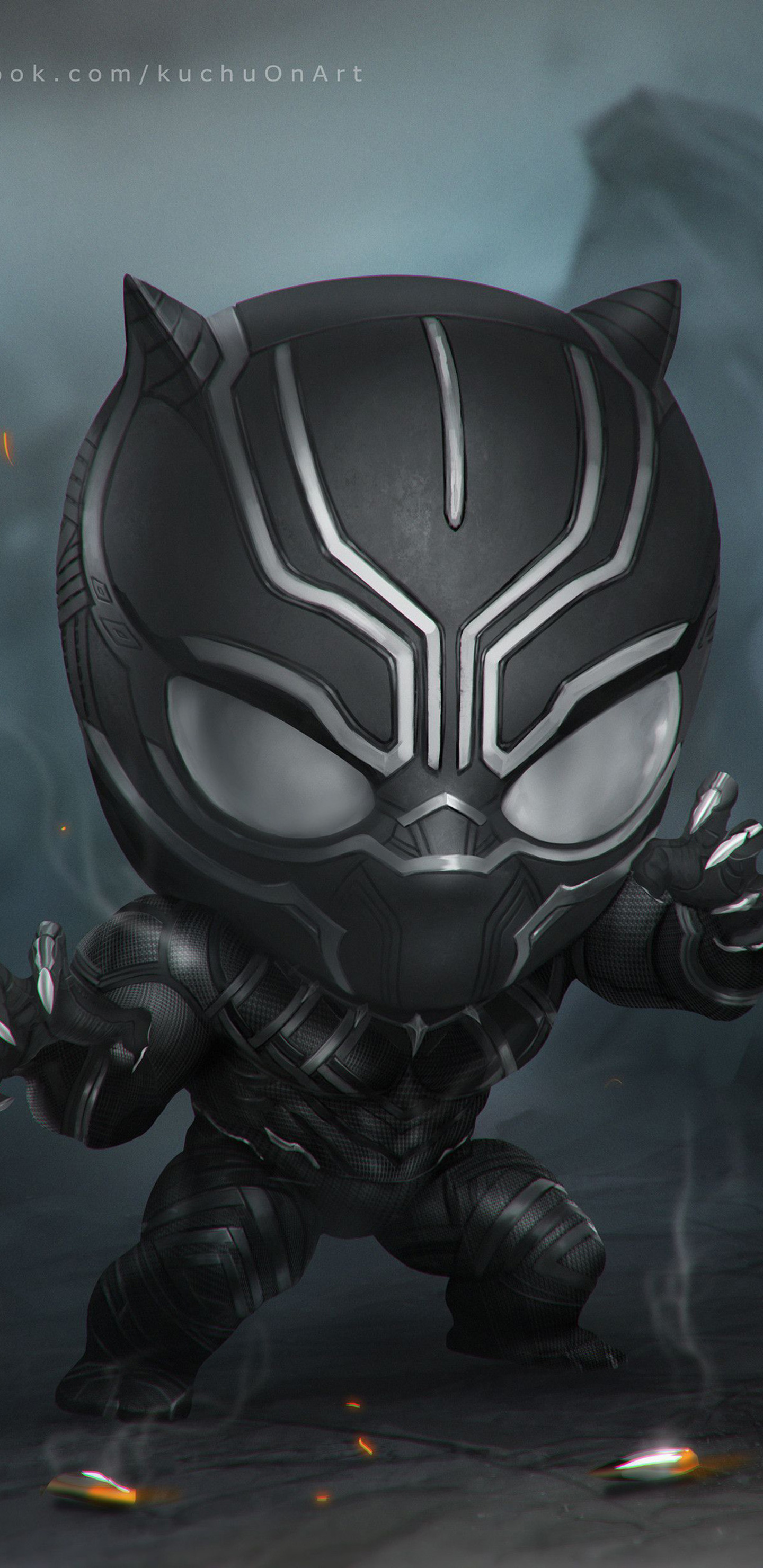 1440x2960 Black Panther Art Samsung Galaxy Note 9 8 S9 S8