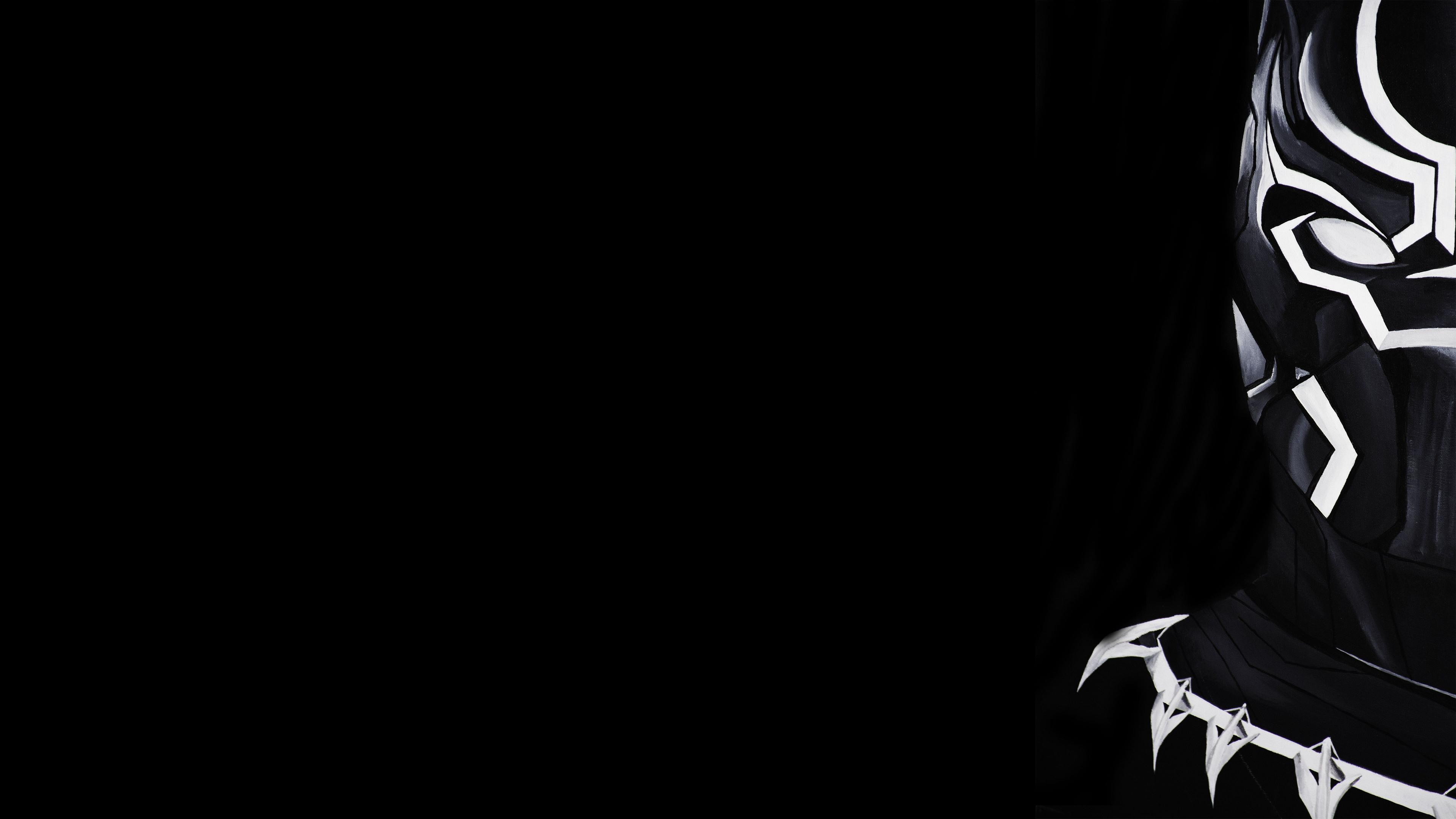 Wallpaper 4K Pc Black : black and white minimalistic dark ...